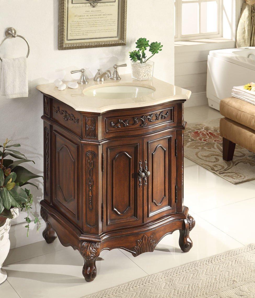 27 Inch Adelina Lush Wood Finish Bathroom Vanity