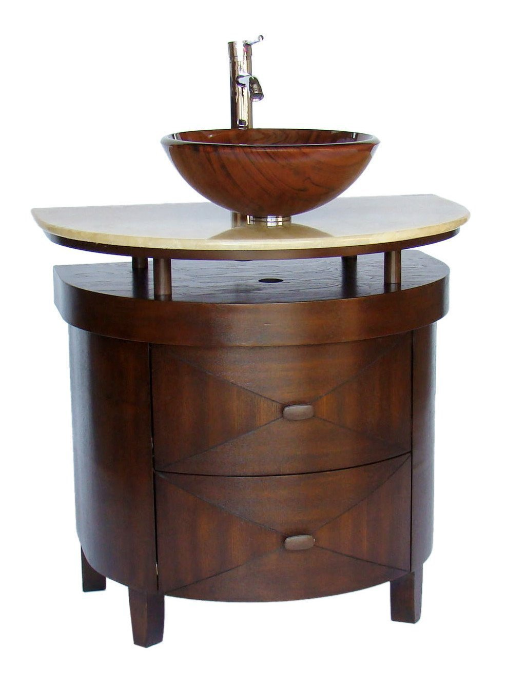 Adelina 32 Inch Contemporary Vessel Sink Bathroom Vanity ...