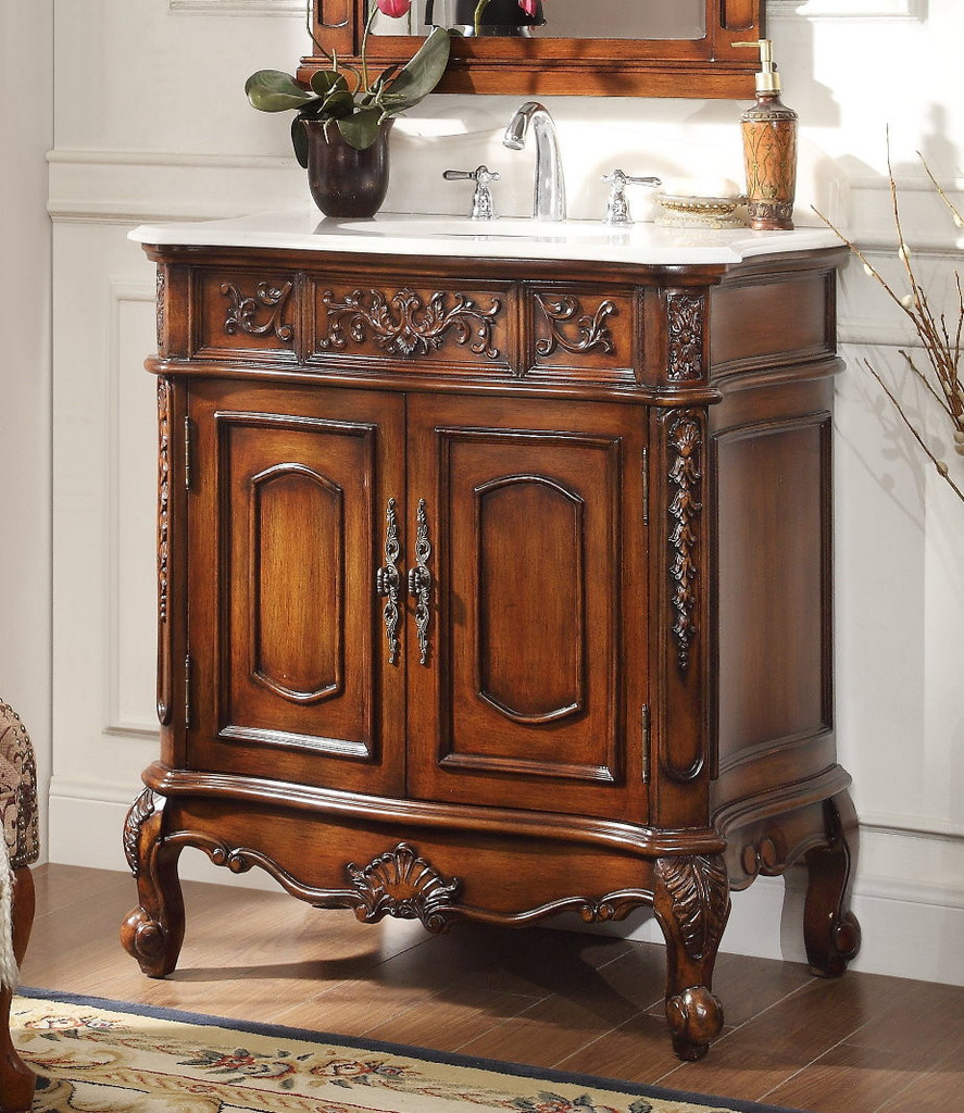33 inch bathroom vanity cabinet adelina 33 inch antique classic bathroom vanity fully 21809