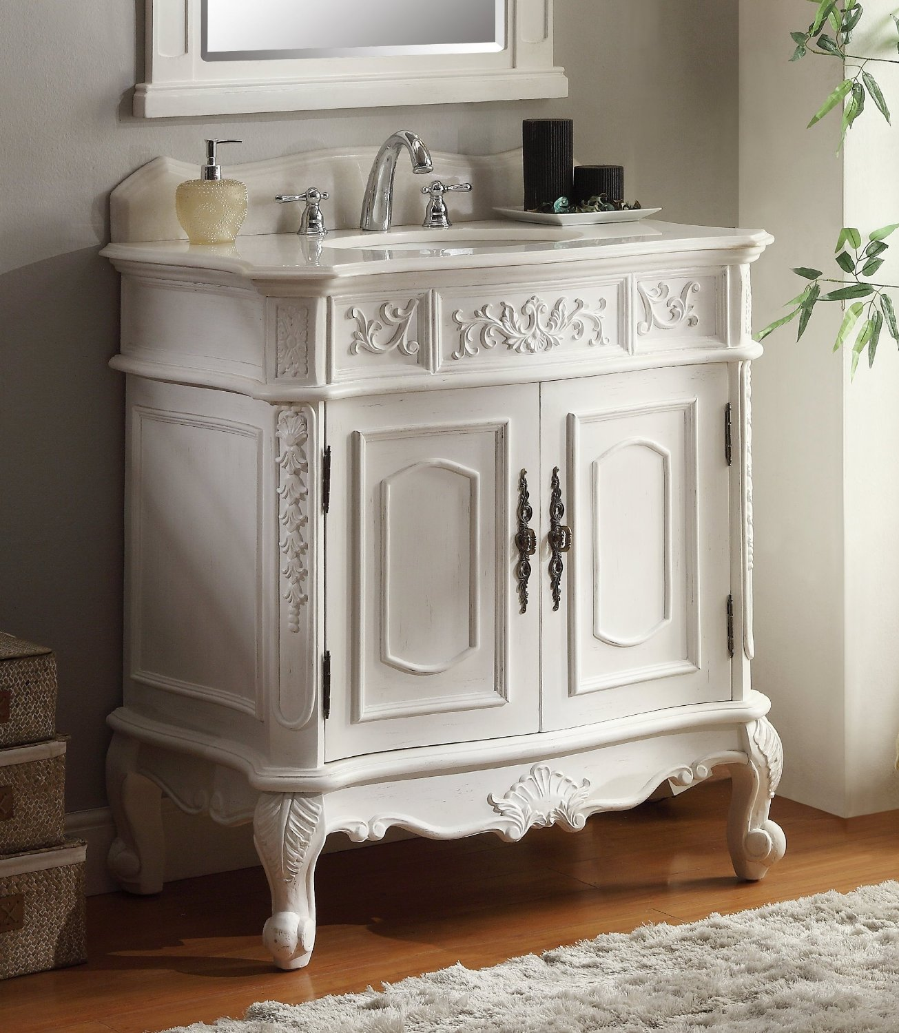 33 inch white vanity. adelina 33 inch antique white single