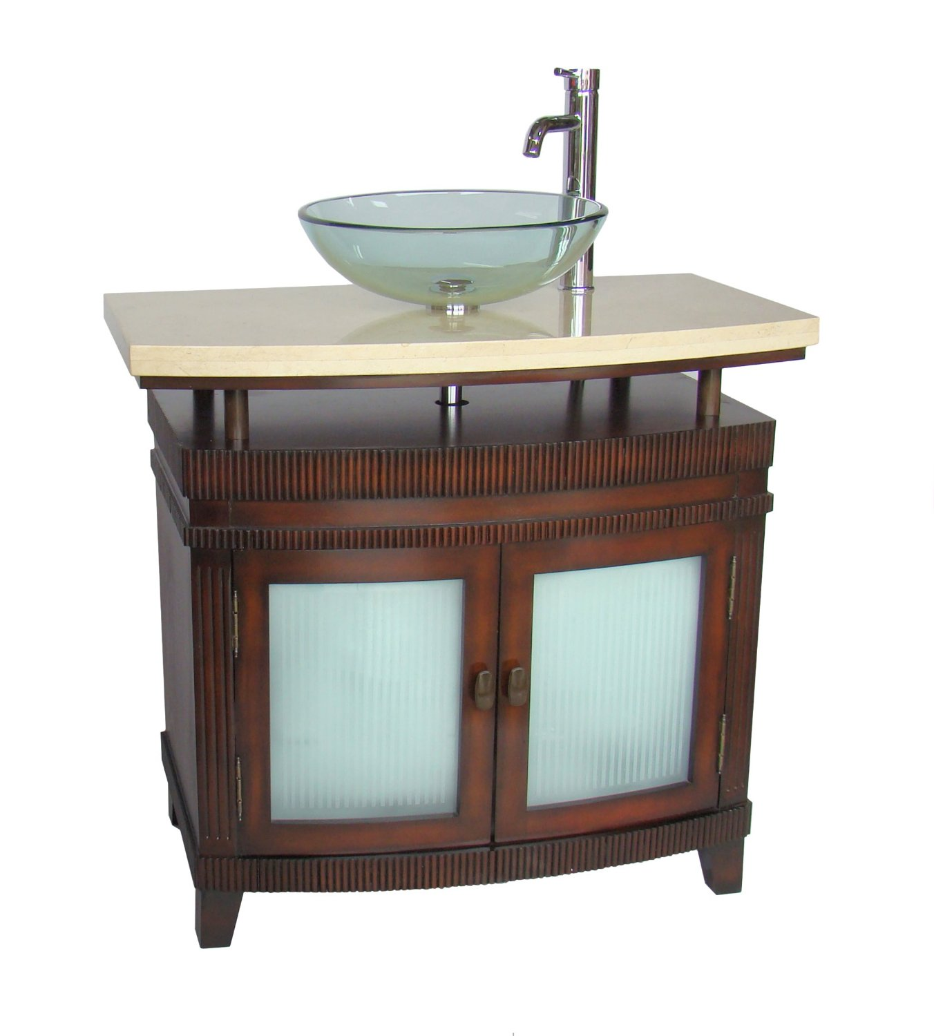 Adelina 36 Inch Vessel Sink Bathroom Vanity Red Cherry Finish