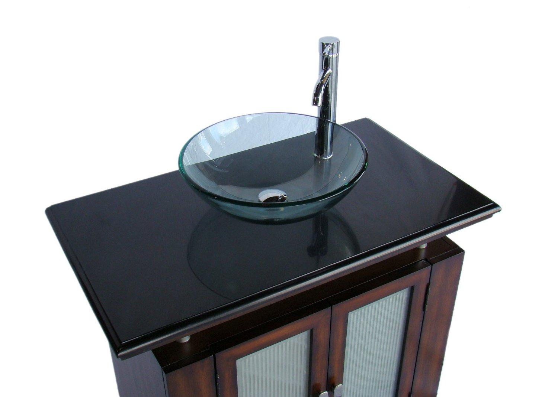 37 Inch Adelina Vessel Sink Bathroom Vanity Black Galaxy Top