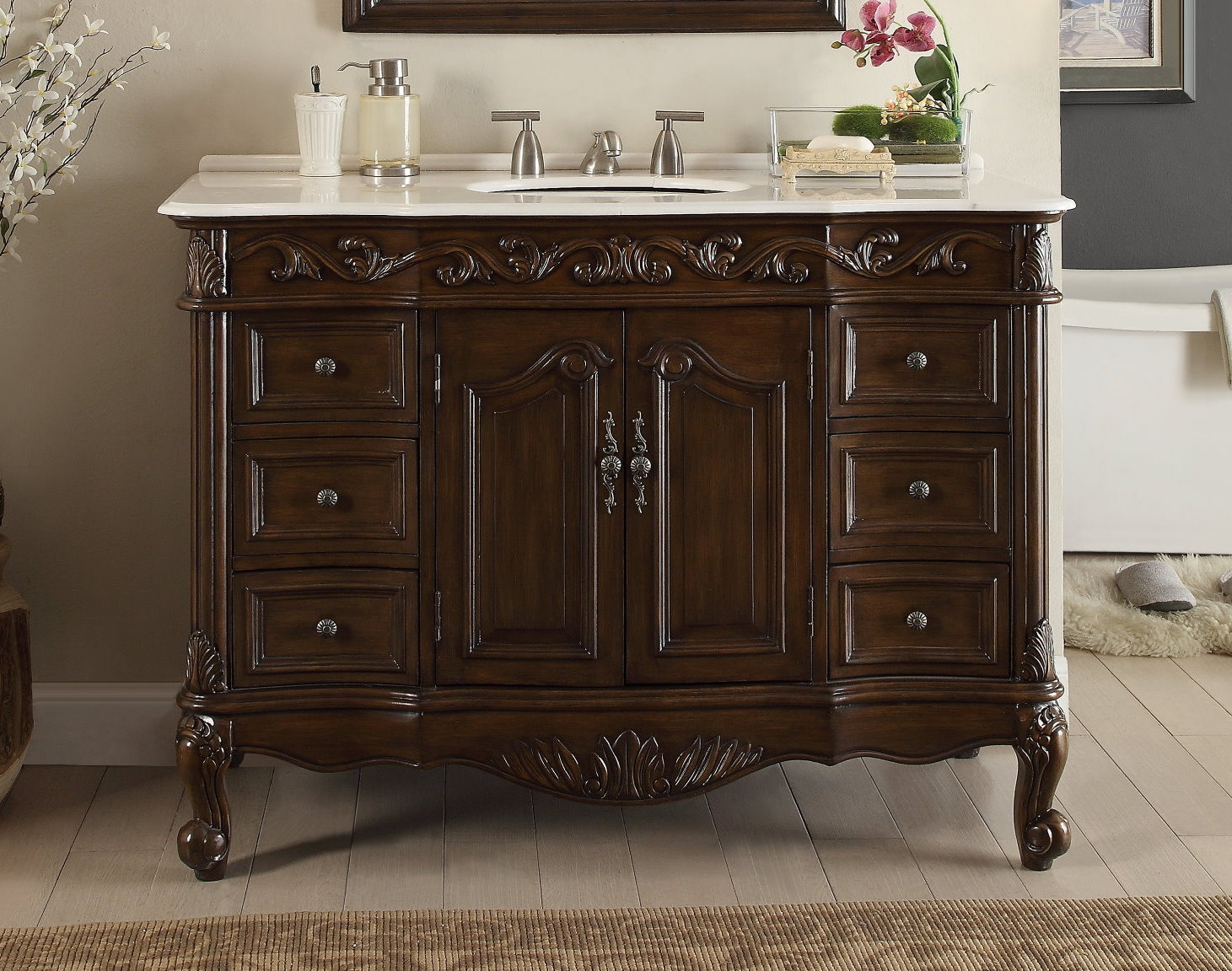 Danny Maple Grey 42 Inch Single Bathroom Vanity Set