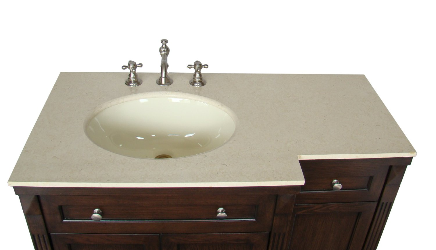 Adelina 42 inch Traditional Bathroom Vanity, Fully assembled, Cream ...
