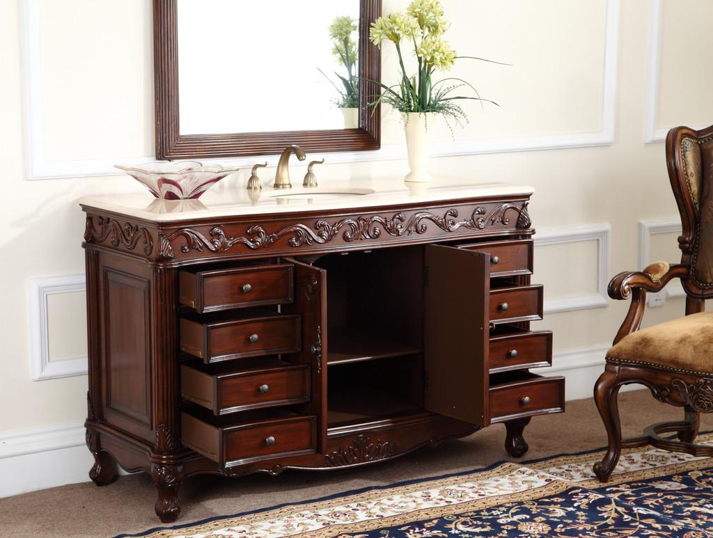 Old fashioned bathroom cabinets -  Fashioned Look Bathroom Vanity Adelina 48 Inch Classic Old Look Bathroom Vanity