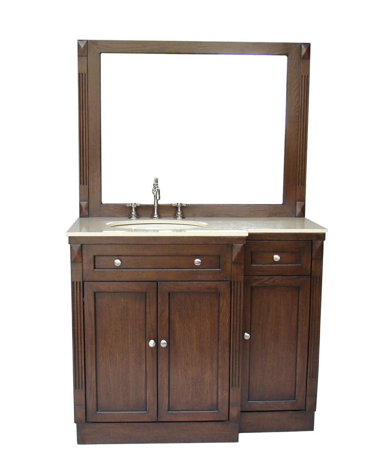 Adelina 42 inch Traditional Bathroom Vanity Cream Marble Top ...