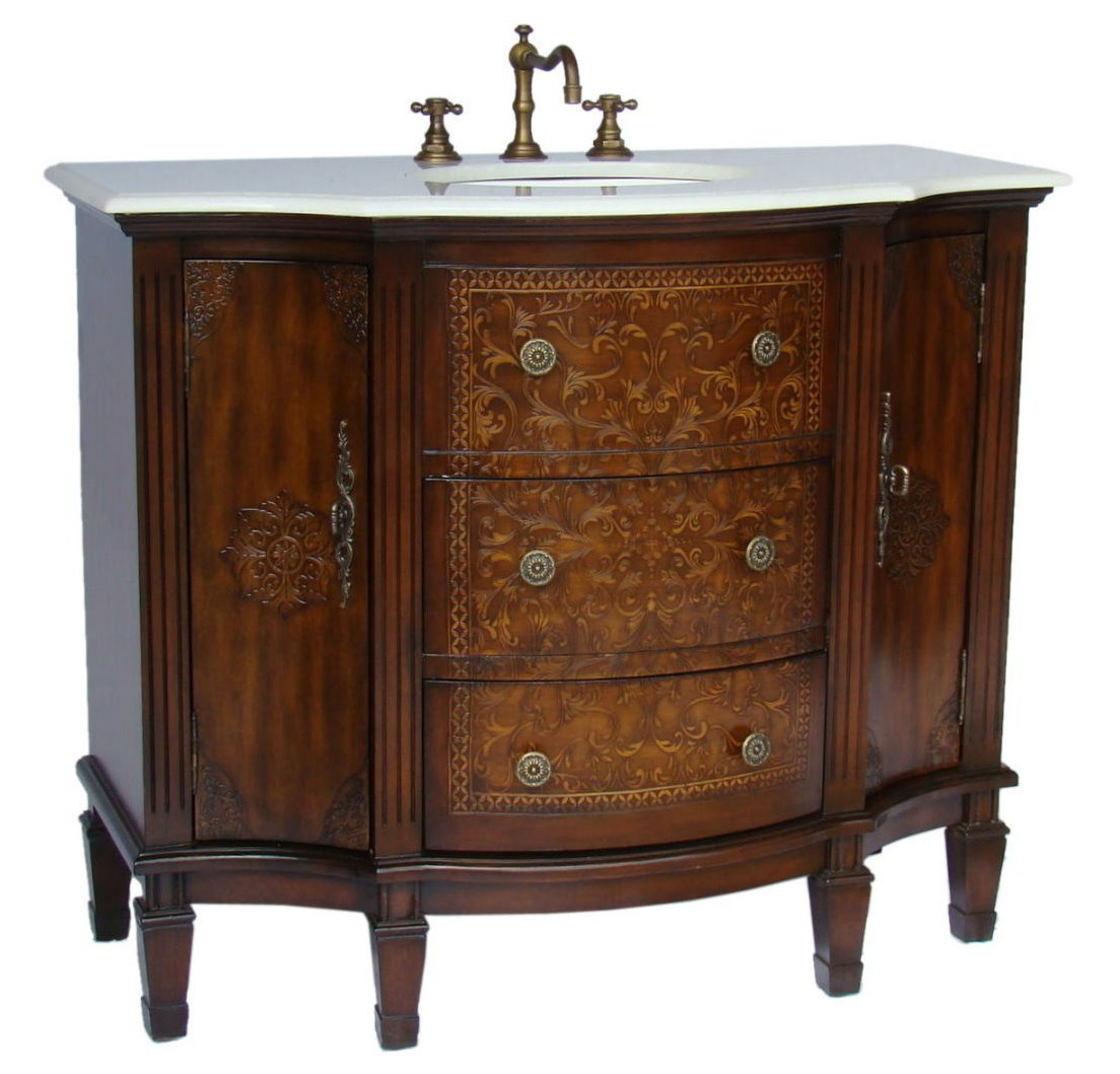 Vintage bathroom vanity - 42 Inch Adelina Vintage French Bathroom Vanity