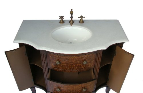 adelina 42 inch vintage french bathroom vanity top