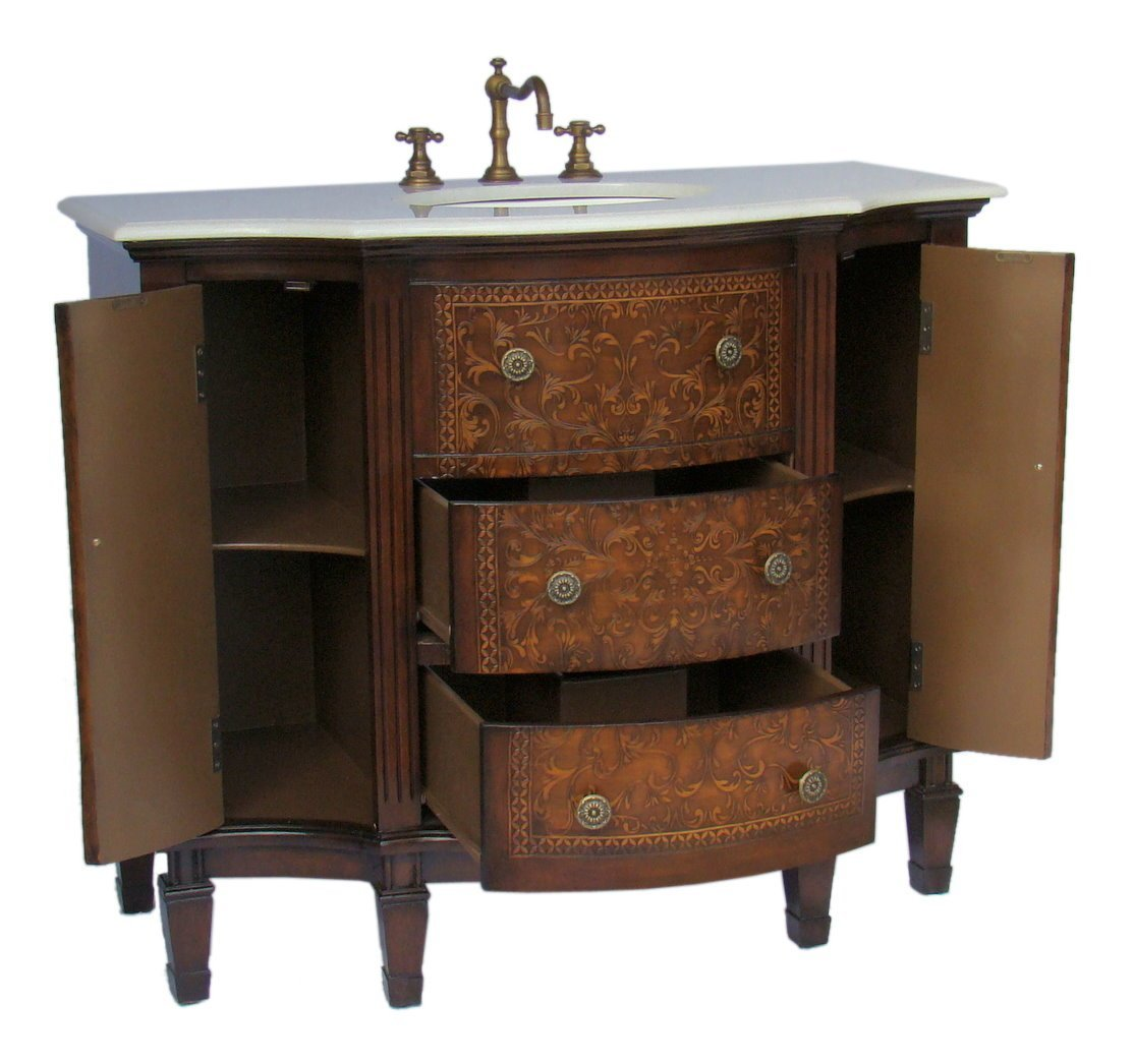 42 Bathroom Vanity Adelina 42 Inch Vintage French Bathroom Vanity