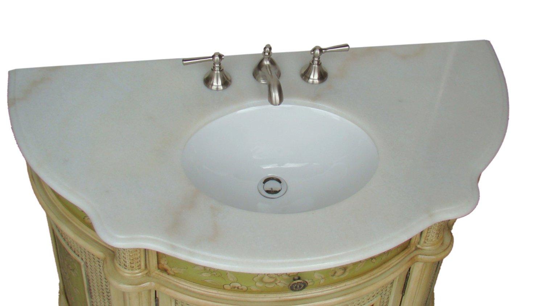 Hand painted bathroom vanity -  Adelina 48 Inch Antique Hand Painted Bathroom Vanity Top