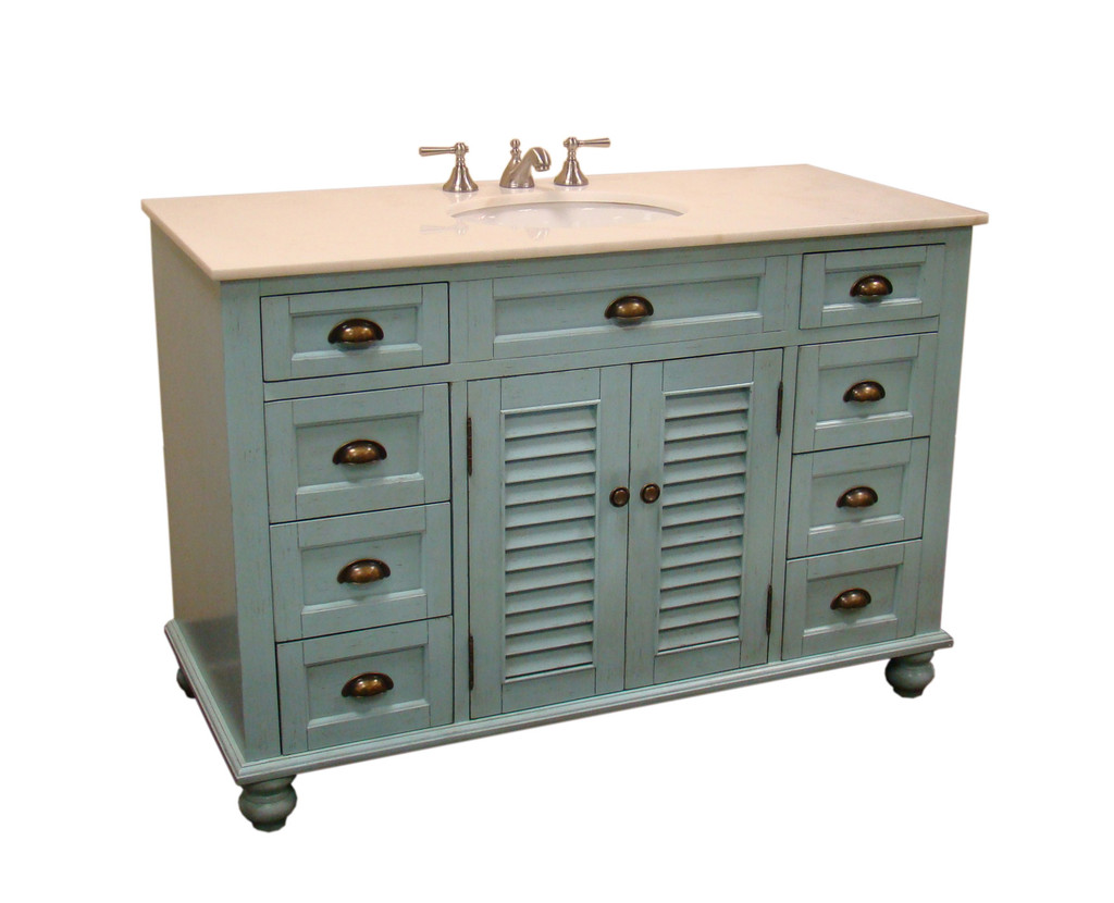 Adelina Inch Cottage Bathroom Vanity White Marble Counter Top
