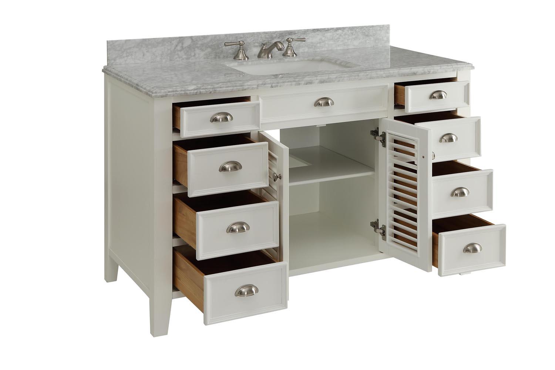 Adelina 50 Inch Cottage Bathroom Vanity Italian Marble Top Adelina 50 Inch  Cottage Vanity Italian Marble Top