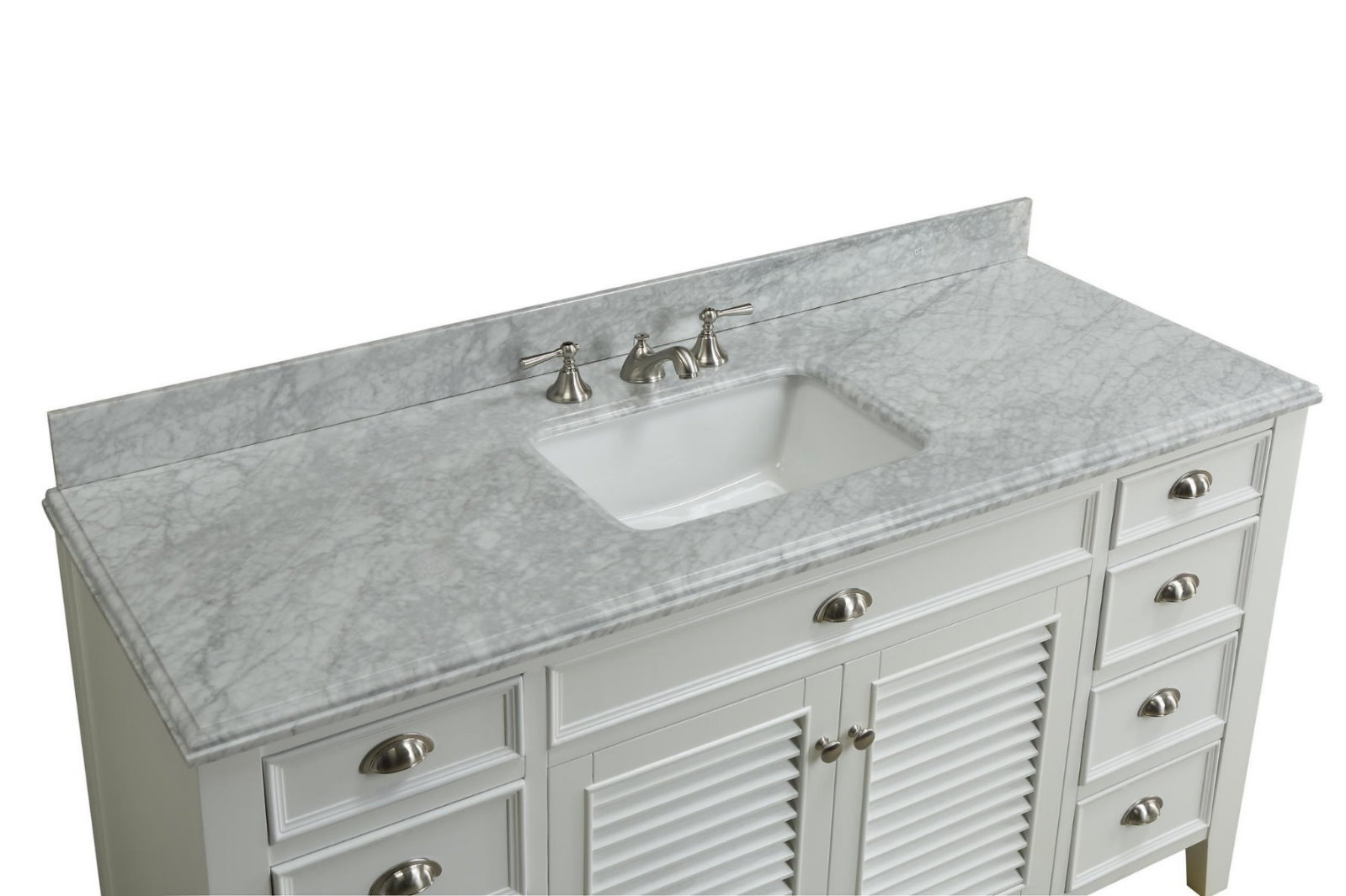 60 white bathroom vanity adelina 60 inch cottage white finish bathroom vanity 15334