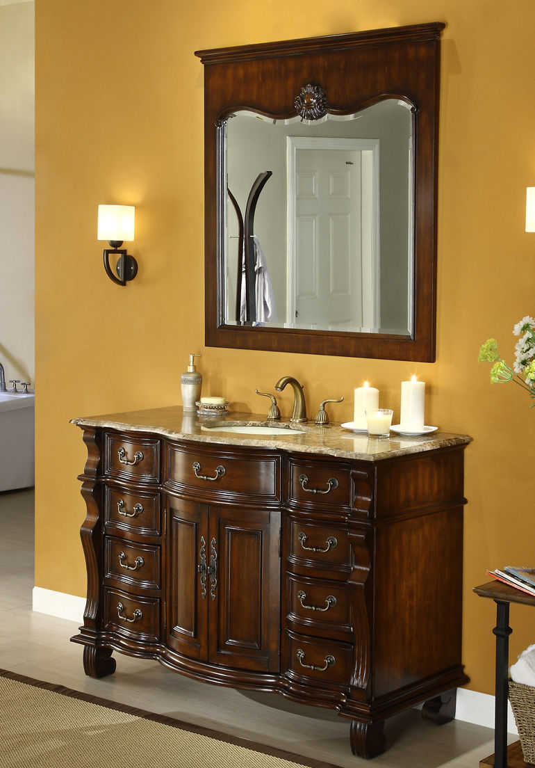 bathroom cabinets vintage style adelina 60 inch antique style bathroom vanity brown marble 15670