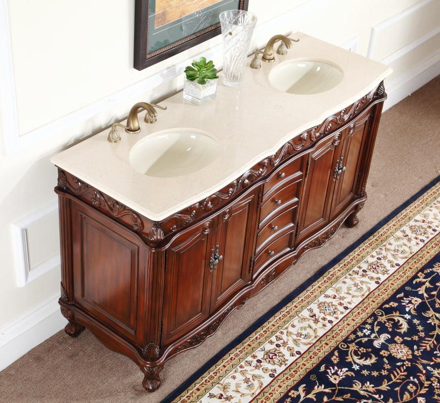 64 inch double sink bathroom vanity.  Adelina 64 inch Antique Double Bathroom Vanity Top Fully assembled