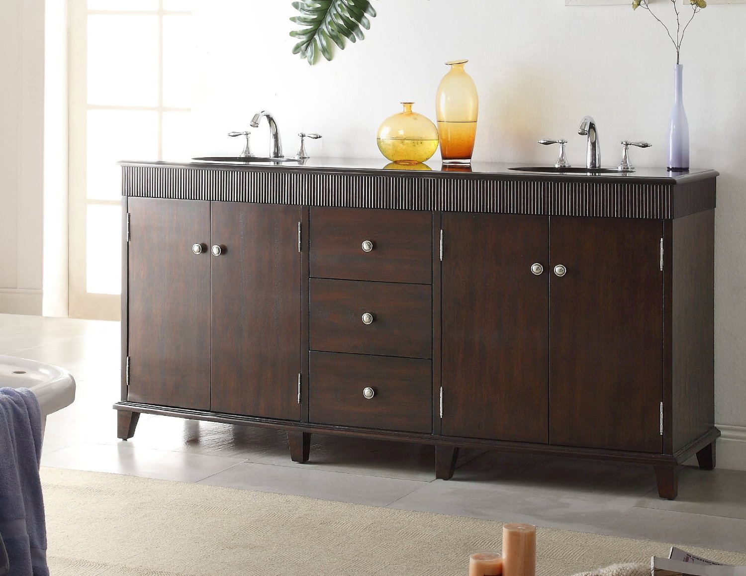 72 inch double sink bathroom vanities adelina 72 inch contemporary sink bathroom vanity 24805
