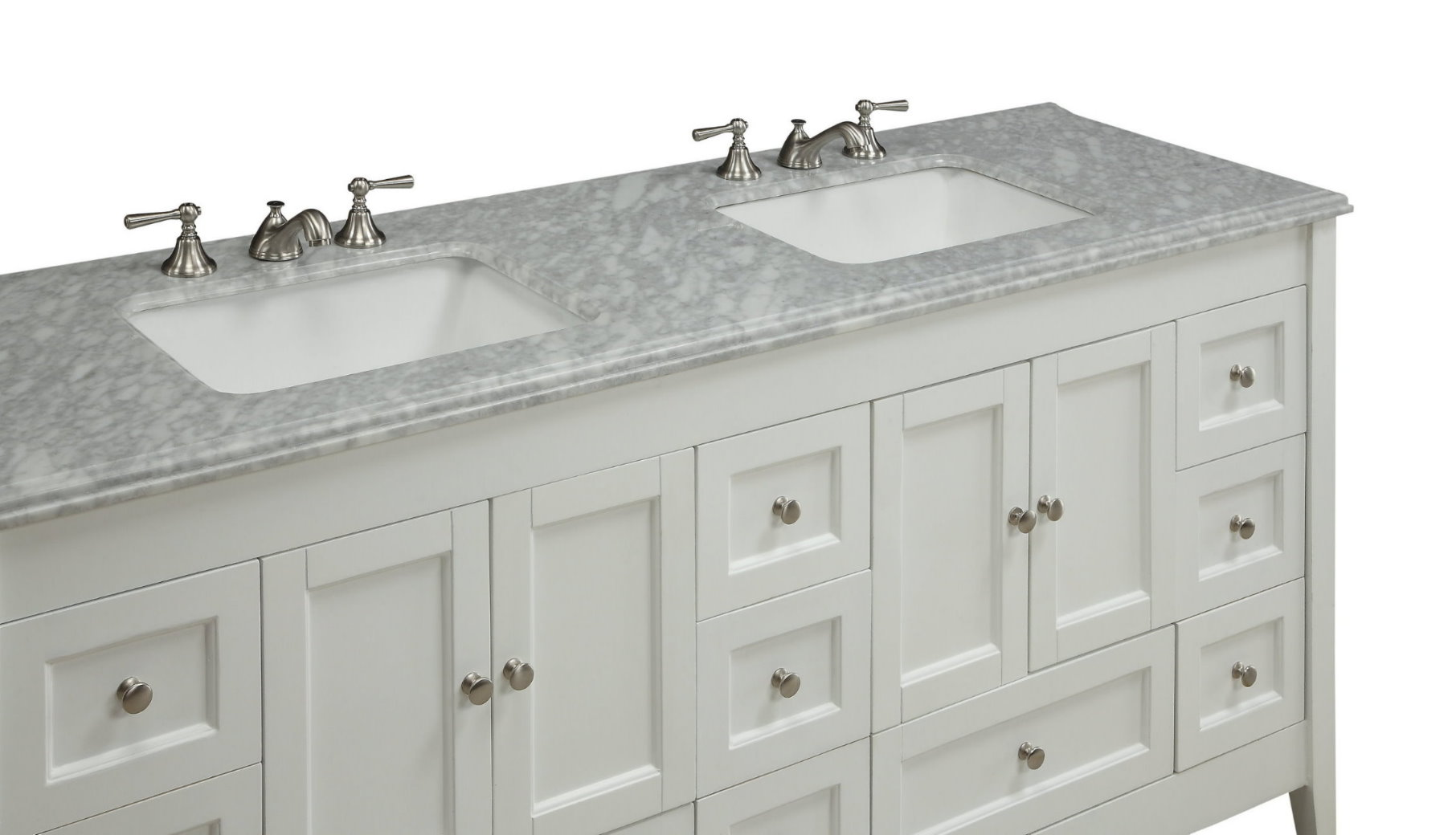 72 inch bathroom vanity double sink adelina 72 inch sink bathroom vanity white finish 24803