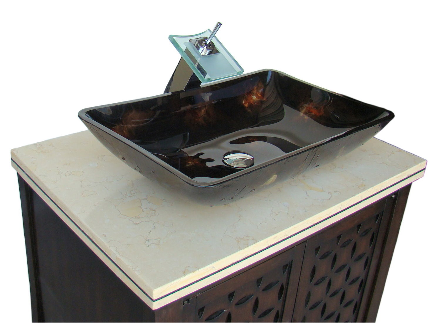 Adelina 30 Inch Contemporary Vessel Sink Bathroom Vanity