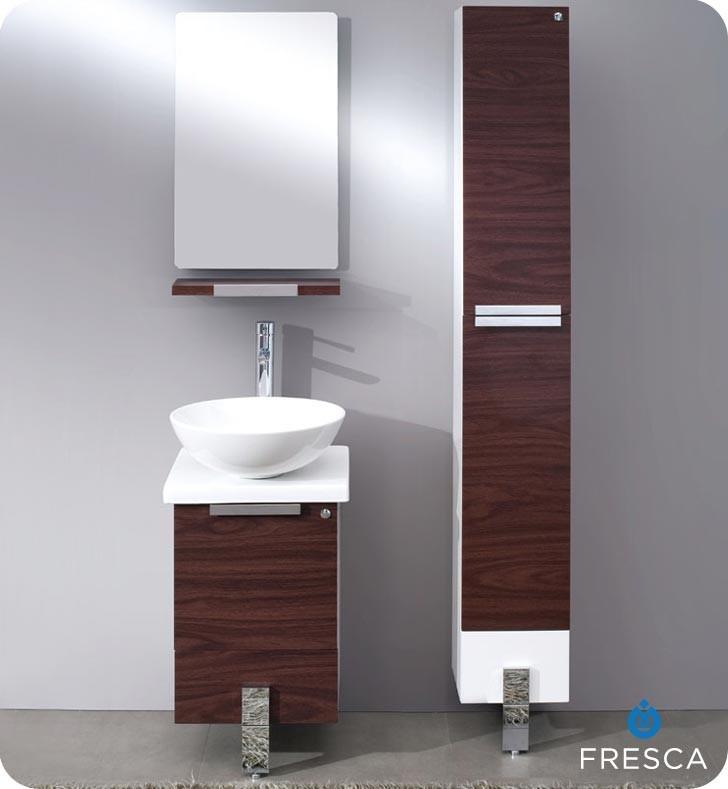 Adour 16 Dark Walnut Modern Bathroom Vanity With Mirror