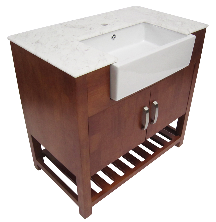 Contemporary Bathroom Vanities 36 Inch 36 inch golden oak single sink bathroom vanity marble top
