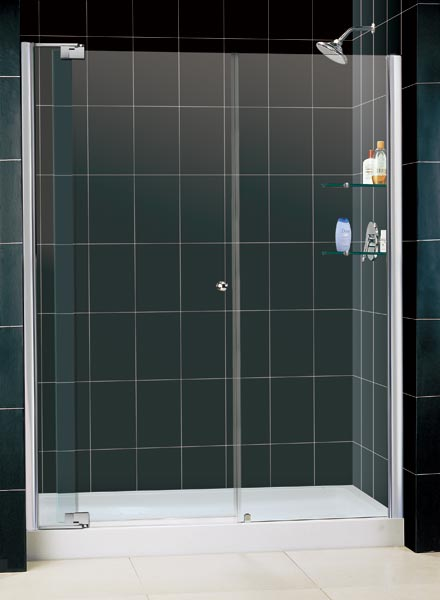 Dreamline Allure 60 To 67 Inch Frameless Pivot Shower Door Chrome