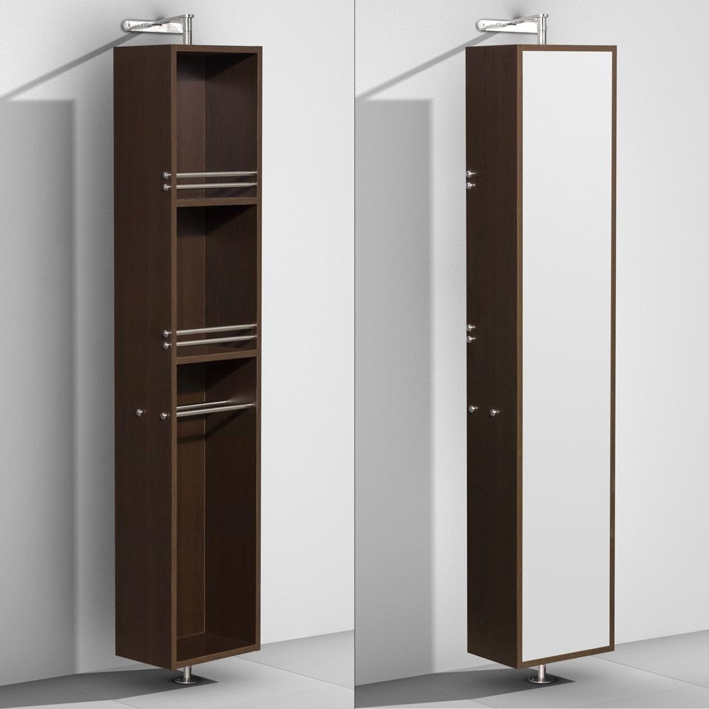 Amare Rotating Floor Linen Cabinet Espresso Finish With