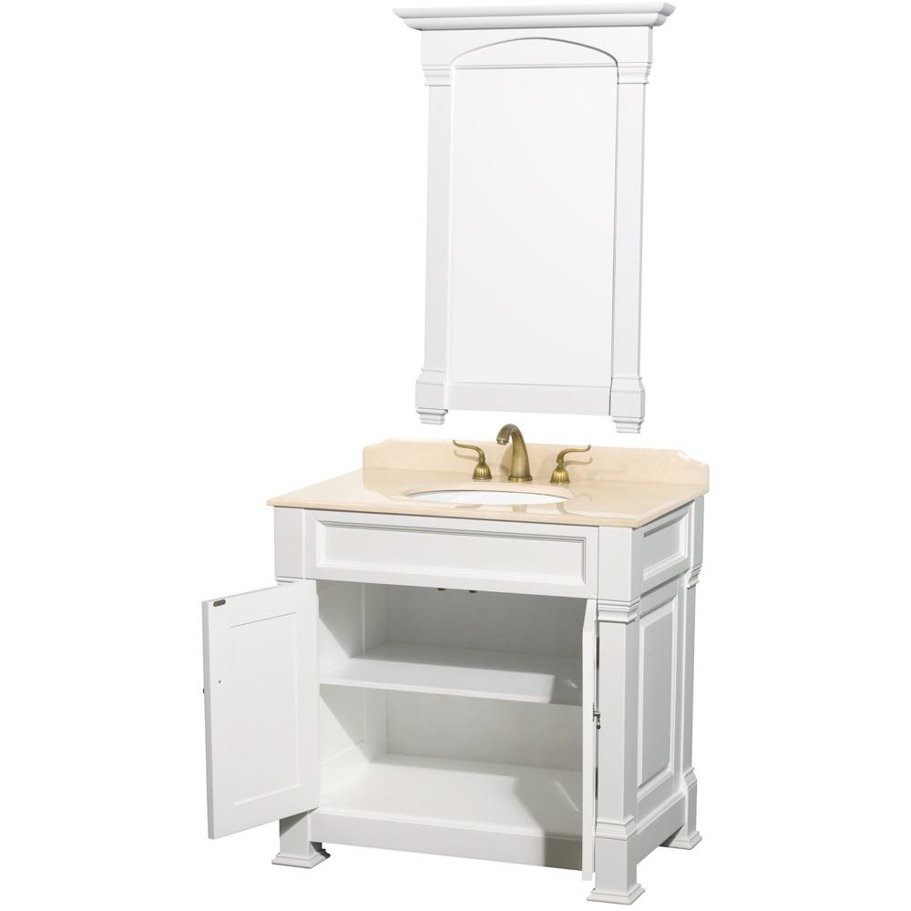 Traditional bathroom sink -  Andover 36 Inch Traditional Bathroom Vanity Cabinet