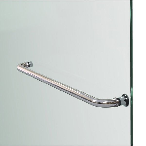 Aqua lux hinged shower door with self closing solid brass for Solid glass shower doors