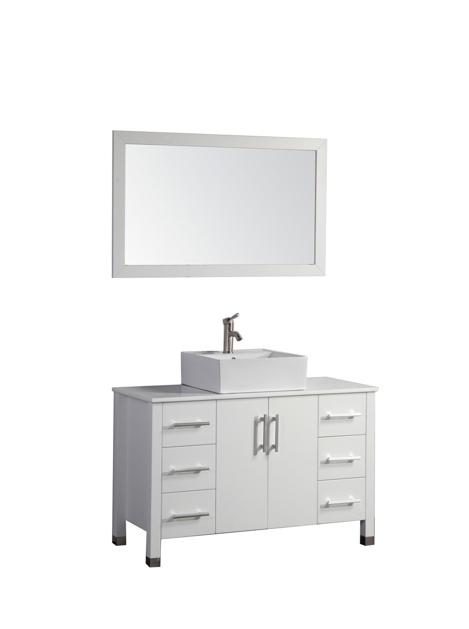 Arida 48 inch modern white single sink bathroom vanity set 48 inch bathroom vanity