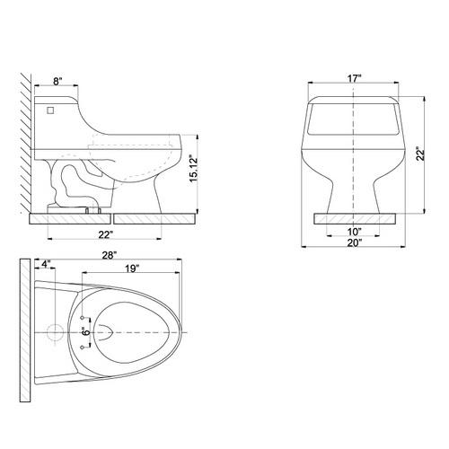 Ariel CO1013 Contemporary European Toilet Chart