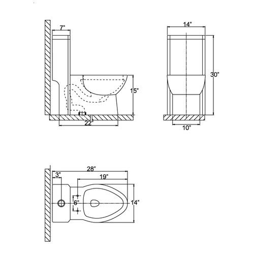 Ariel CO1037 Contemporary European Toilet chart