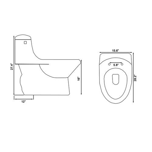 Ariel Platinum TB109M Toilet Chart