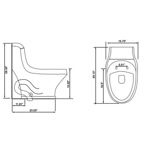 Ariel Platinum TB133M Toilet Chart