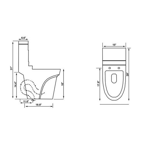 Ariel Platinum TB326M Toilet Chart
