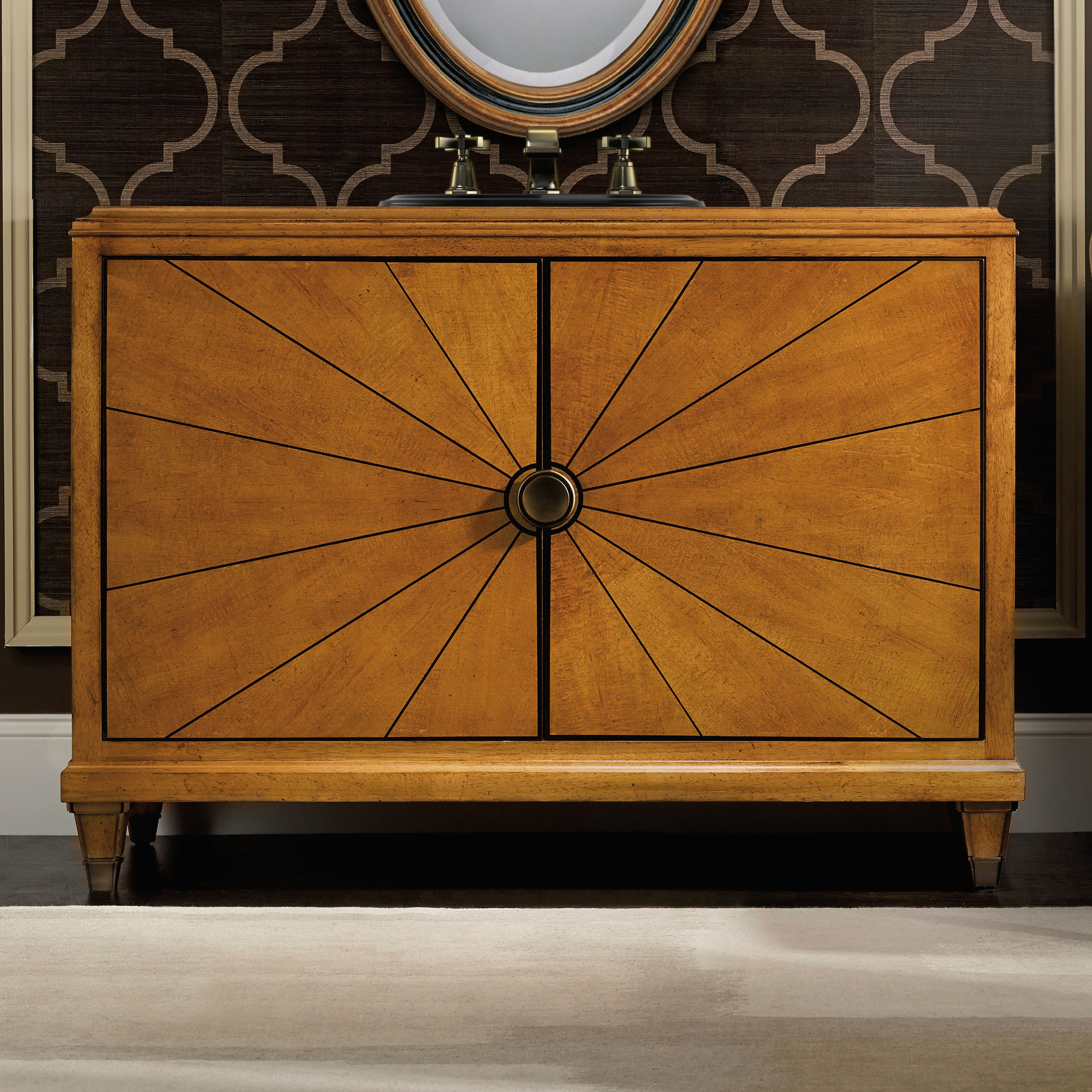 Asbury 34 inch hall chest bathroom vanity by cole co for Bathroom planner in feet and inches
