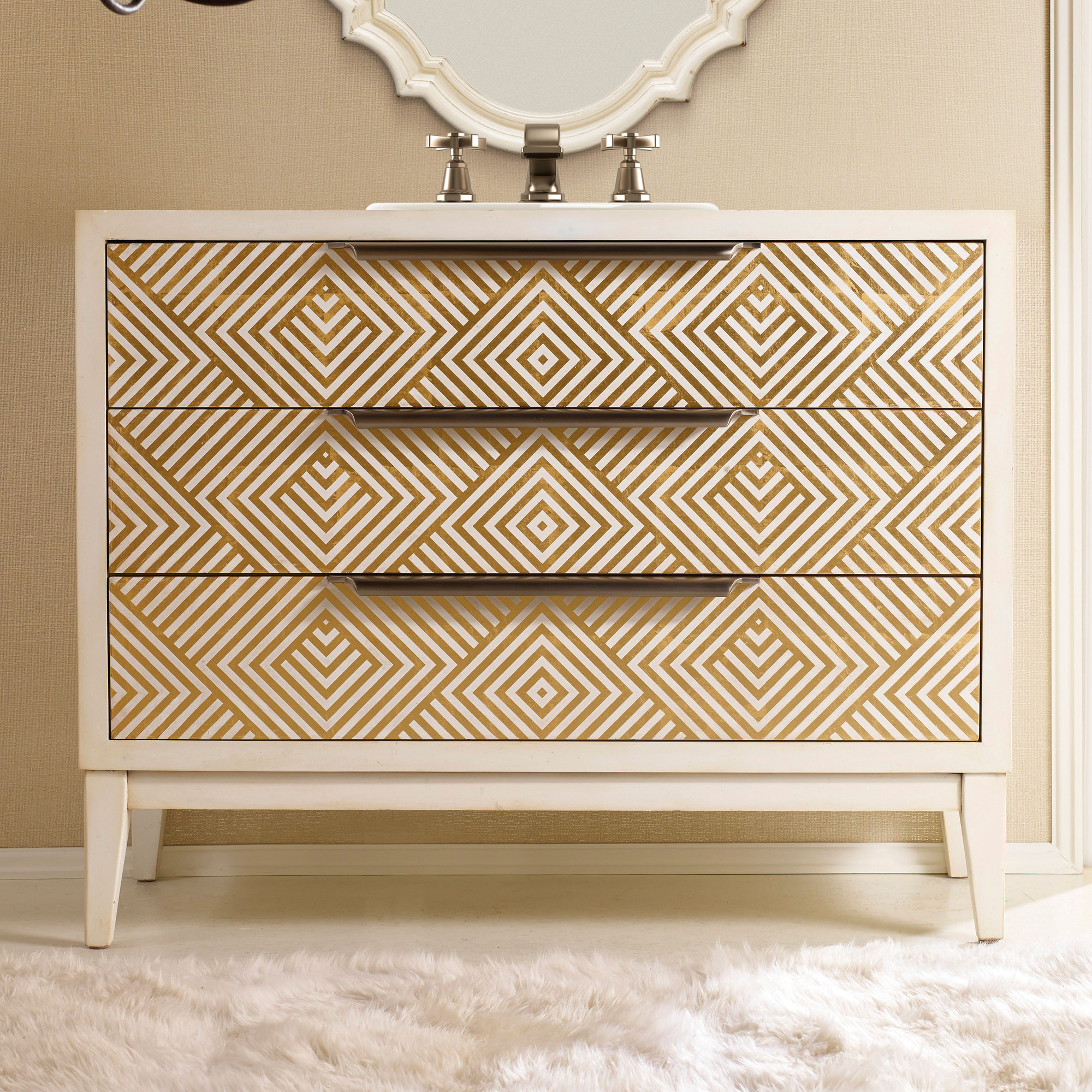 ... Avery 46 inch Hall Chest Bathroom Vanity by Cole ...