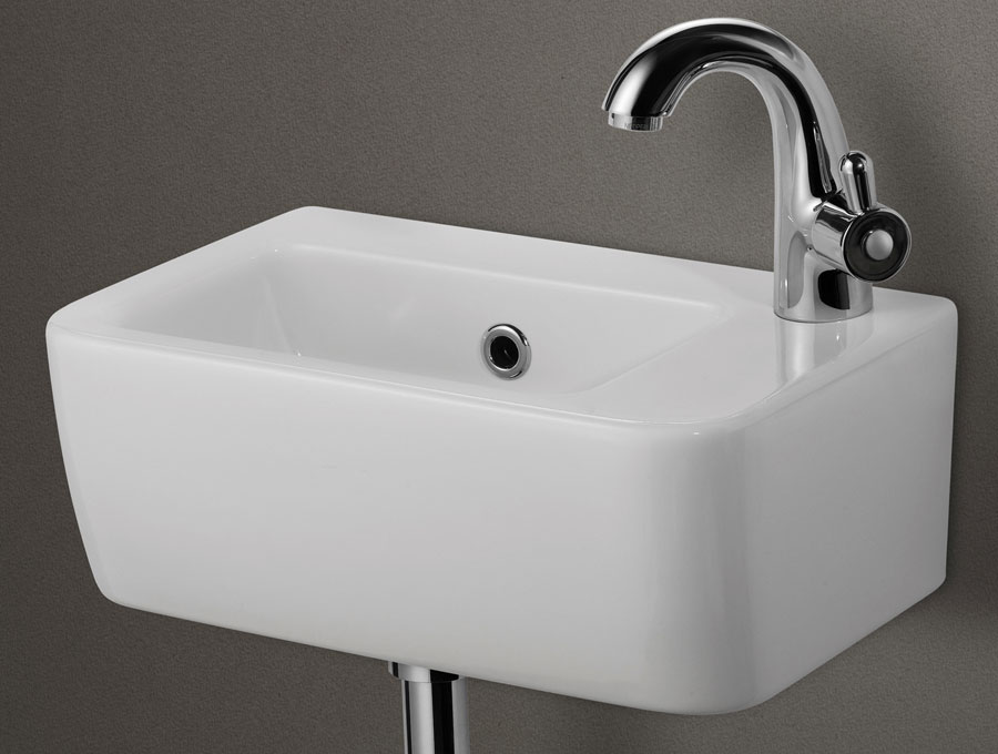 Bath Porcelain Sink Wall Mounted Basin White Color ...