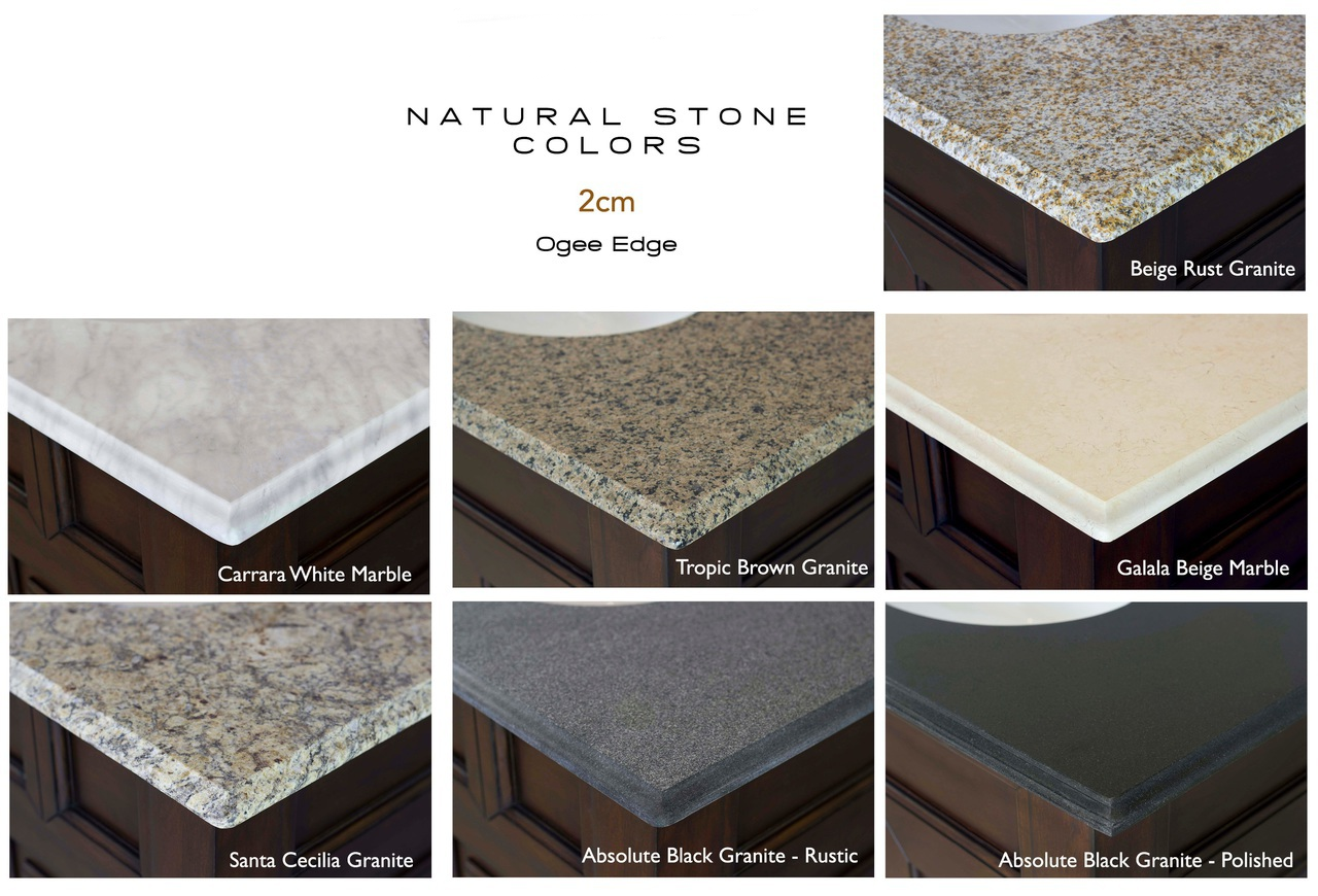 ... Bath Vanity Stone Countertop Options