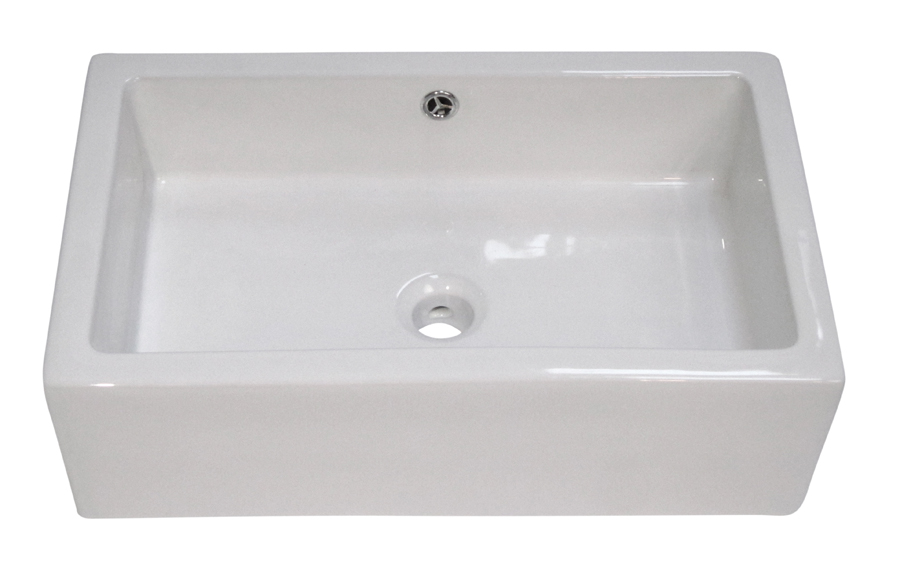 Bath Wall Mount Rectangular Porcelain Sink White Color ...