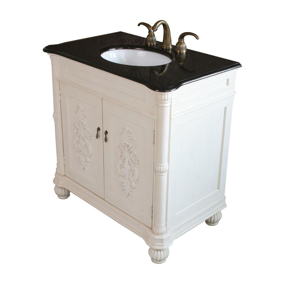 Bellaterra White Single Sink Bathroom Vanity Bellaterra White Single  Bathroom Vanity ...