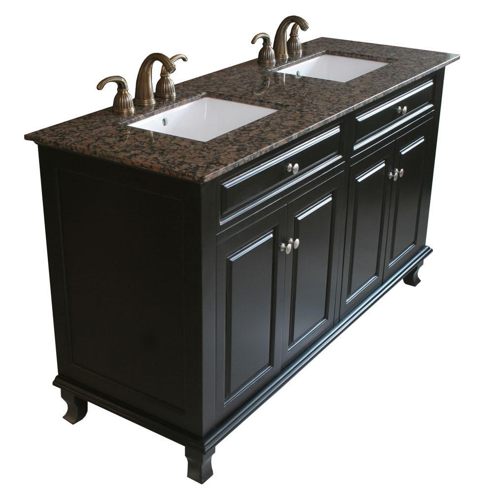 black double sink bathroom vanities bellaterra 603215 62b bb sink bathroom vanity 22764
