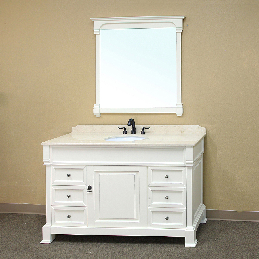 Bellaterra Home 205060 S A White Bathroom Vanity
