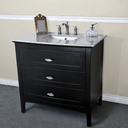 The Bella Collection 35 Inch Single Sink Vanity Base Only