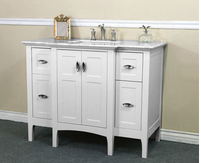 ... Bellaterra Home 44 Inch White Finish Vanity Base