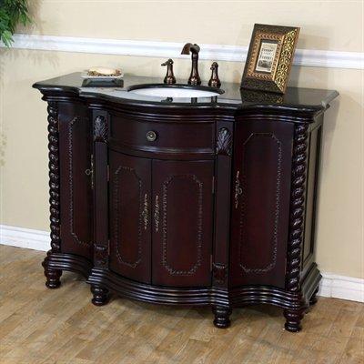 Bellaterra Home  inch Single Sink Wood Vanity Dark Mahogany