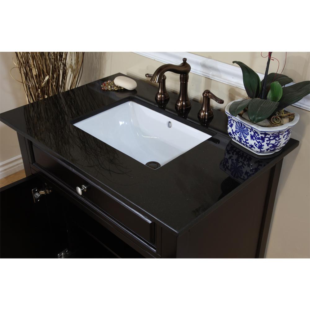 Bellaterra Home 603215 32dm Bg Single Sink Bathroom Vanity Black