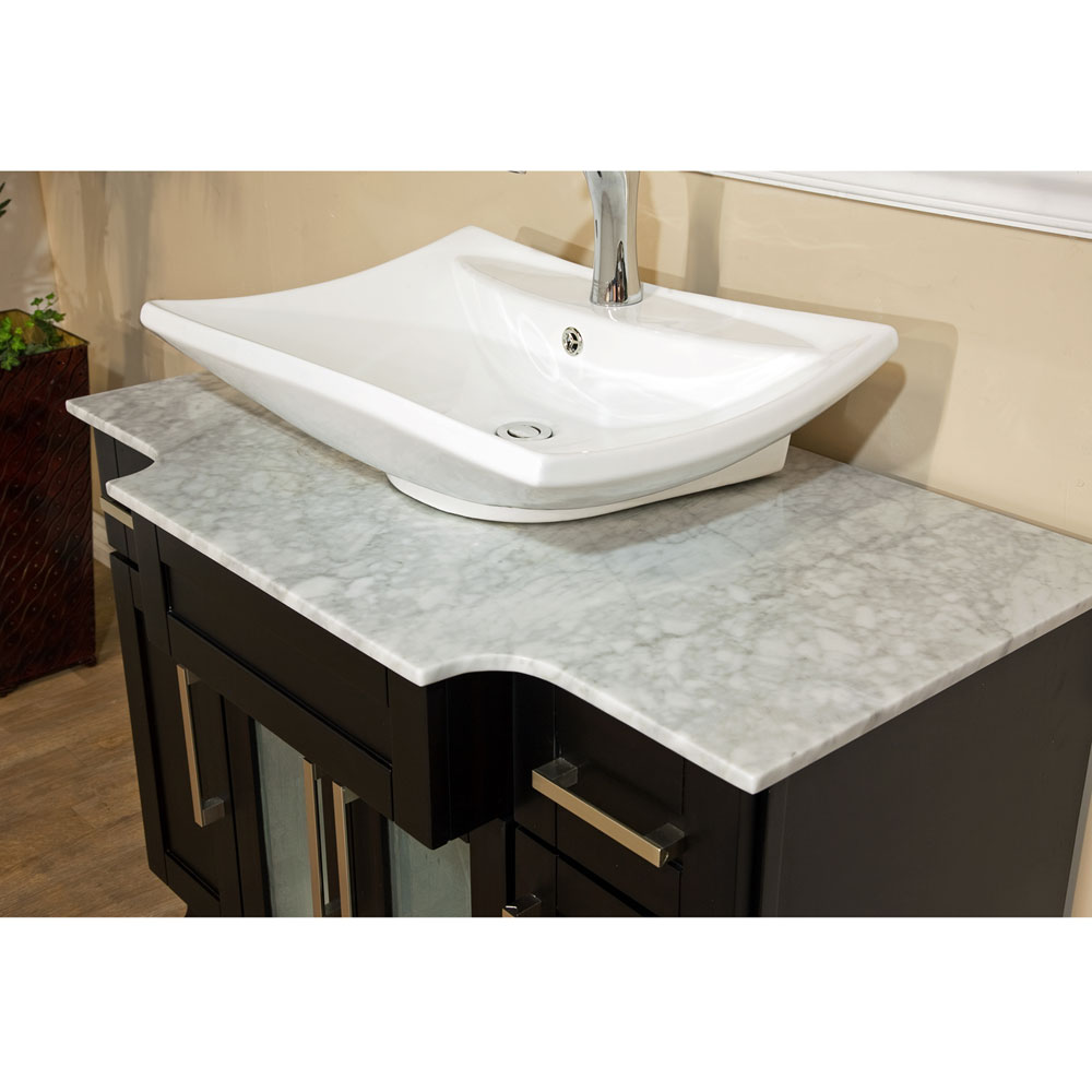 Bellaterra Home 604023B Single Sink Bathroom Vanity Bellaterra Home 604023B  Single Sink Bathroom Sink ...