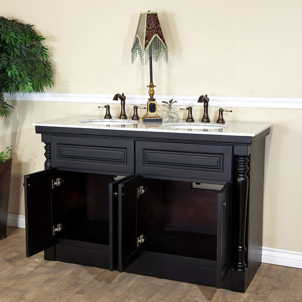 Bellaterra Home 605522a Double Sink Bathroom Vanity Dark Mahogany Finish