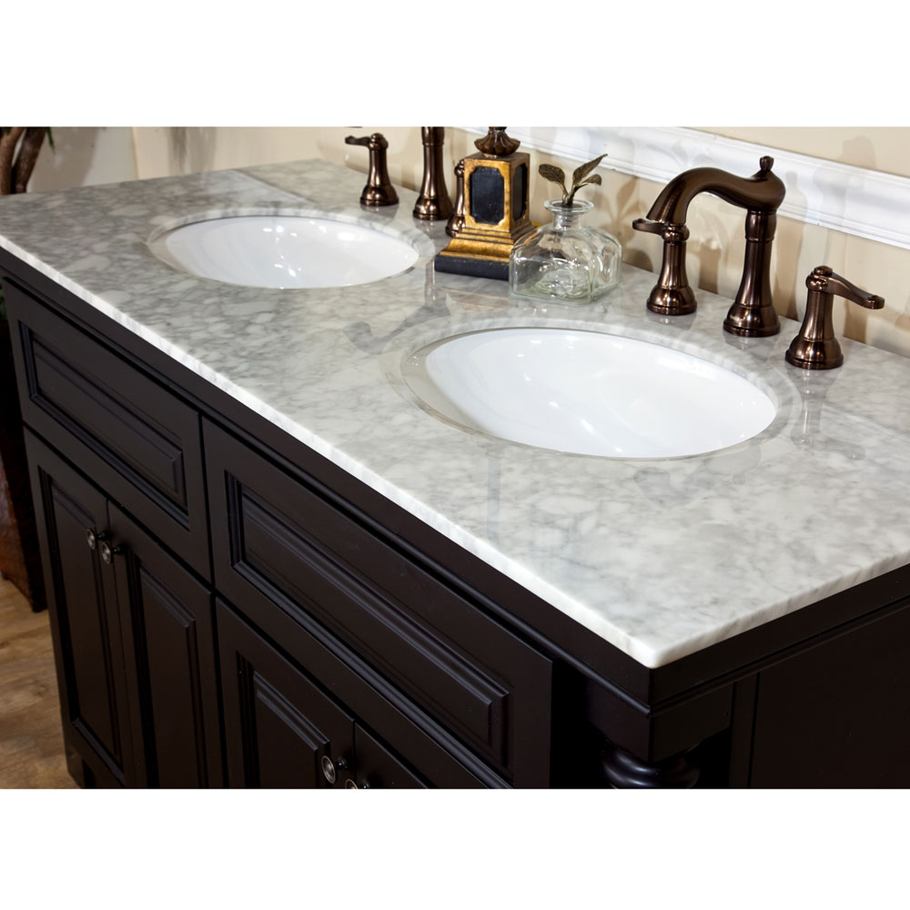 Bellaterra Home 605522A Double Sink Bathroom Vanity Top ...