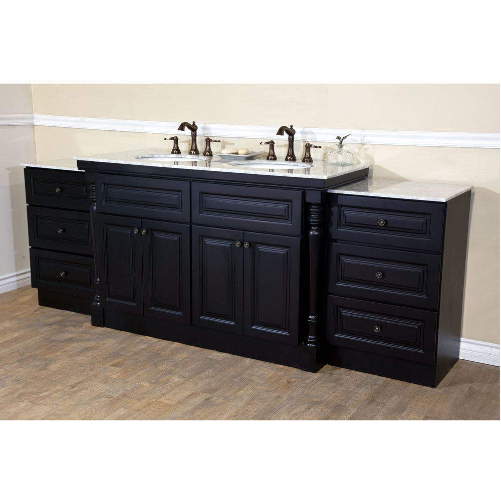 bellaterra home 605522c double sink bathroom vanity dark mahogany finish. Black Bedroom Furniture Sets. Home Design Ideas